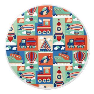 Vintage Toy Pattern Ceramic Knob