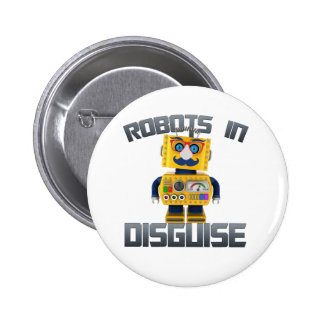 Vintage toy robot in disguise 2 inch round button