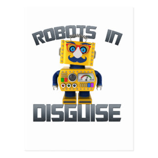 Vintage toy robot in disguise postcard