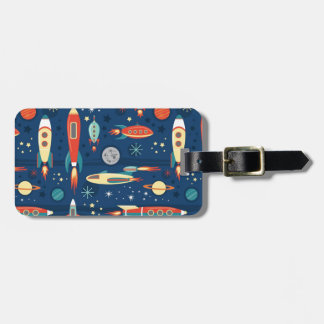 Vintage Toy Rockets Luggage Tag