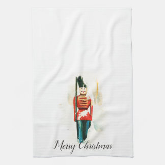 Vintage Toy Soldier Christmas Kitchen Towel