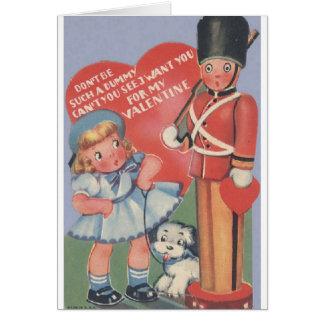 Vintage Toy Soldier Valentine's Day Card