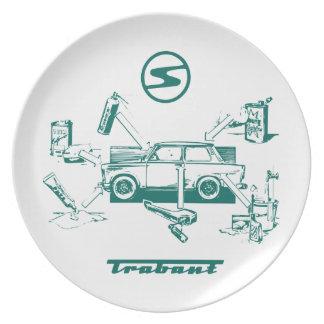 Vintage trabant plate