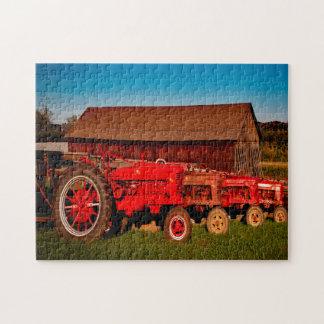 Vintage Tractors. Jigsaw Puzzle