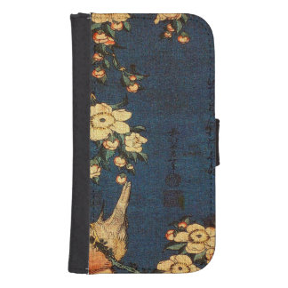 Vintage Traditional Japanese Paper Print Samsung S4 Wallet Case