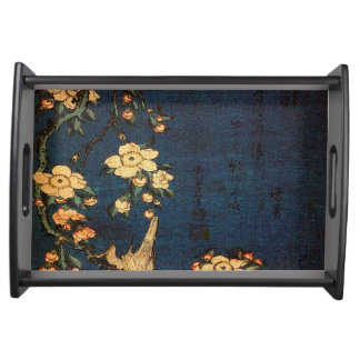 Vintage Traditional Japanese Paper Print Serving Tray