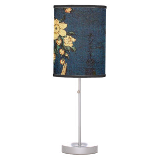 Vintage Traditional Japanese Paper Print Table Lamp
