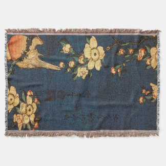 Vintage Traditional Japanese Paper Print Throw Blanket