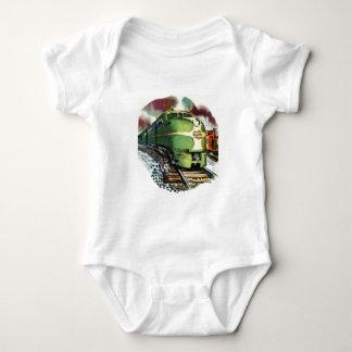 Vintage Train Baby Bodysuit