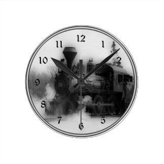 Vintage Train Locomotive Clock