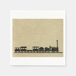 Vintage Train Paper Napkins