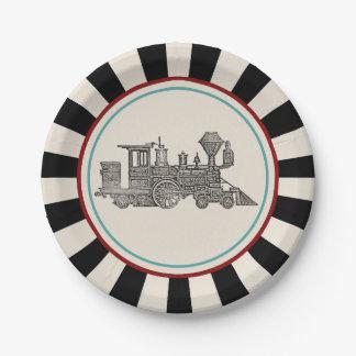 Vintage Train Paper Plate