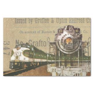 Vintage Train Print Tissue Paper