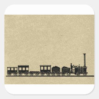 Vintage Train Stickers