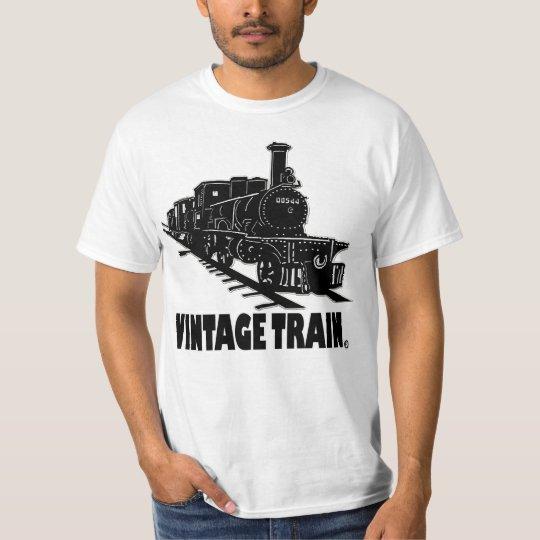 Vintage Train Transport Designer T-Shirt Clothing