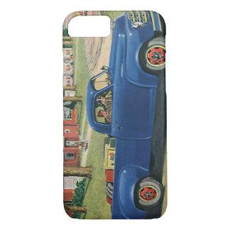 Vintage Transportation, Classic Blue Truck iPhone 7 Case