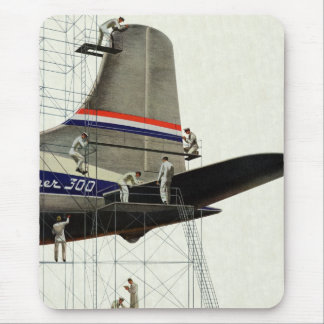 Vintage Transportation, Maintenance for Airplanes Mouse Pad