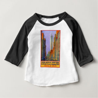 Vintage Travel 5th Avenue New York Baby T-Shirt