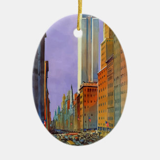 Vintage Travel 5th Avenue New York Ceramic Ornament