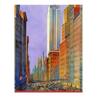 Vintage Travel 5th Avenue New York Letterhead
