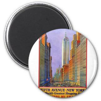 Vintage Travel 5th Avenue New York Magnet