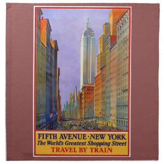 Vintage Travel 5th Avenue New York Napkin