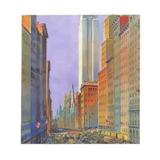 Vintage Travel 5th Avenue New York Notepad