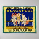 Vintage Travel Advert / Blackpool England 1900's Poster
