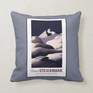 Vintage Travel Advertisement For Austria Throw Pillow