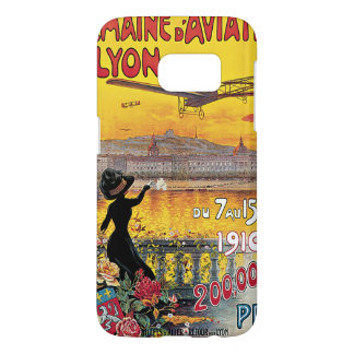 Vintage Travel, Airplanes Air Show, Lyon, France Samsung Galaxy S7 Case