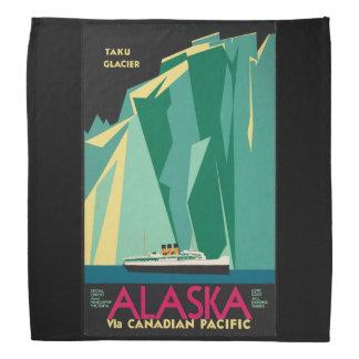 Vintage Travel Alaska Taku Glacier Cruise Ship Bandana