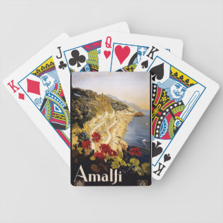 Vintage Travel Amalfi Italy Bicycle Playing Cards