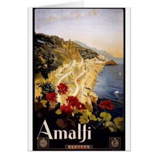 Vintage Travel Amalfi Italy Card