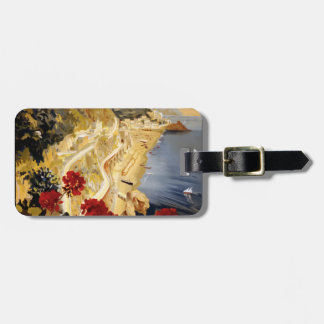 Vintage Travel Amalfi Italy Luggage Tag