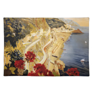 Vintage Travel Amalfi Italy Placemat