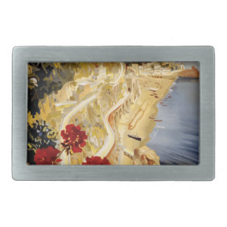Vintage Travel Amalfi Italy Rectangular Belt Buckle