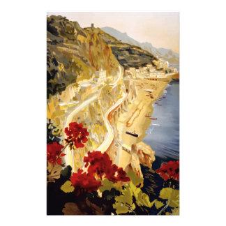 Vintage Travel Amalfi Italy Stationery