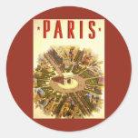Vintage Travel, Arc de Triomphe Paris France