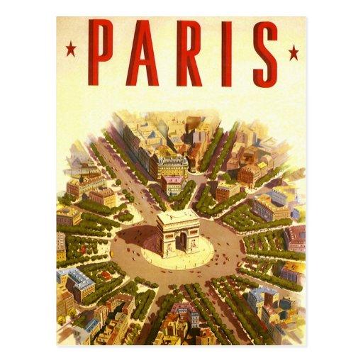 Vintage Travel, Arc de Triomphe Paris France Postcard