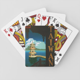 Vintage Travel Asia, Taiwan Pagoda Tiered Tower Playing Cards