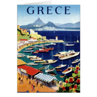 Vintage Travel Athens Greece Greeting Card