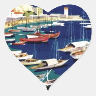 Vintage Travel Athens Greece Heart Sticker