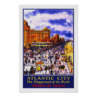 Vintage travel,Atlantic City Poster