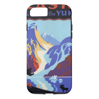 Vintage Travel , Atlin and the Yukon, Alaska iPhone 8/7 Case