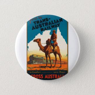 Vintage Travel Australia 2 Inch Round Button