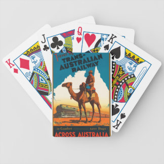 Vintage Travel Australia Bicycle Playing Cards