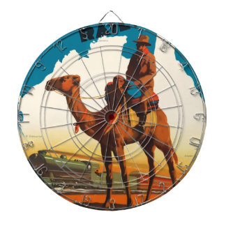Vintage Travel Australia Dartboard