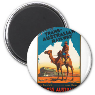 Vintage Travel Australia Magnet