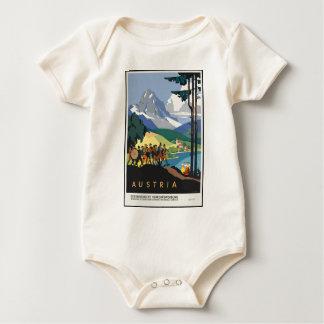Vintage Travel Austria Baby Bodysuit