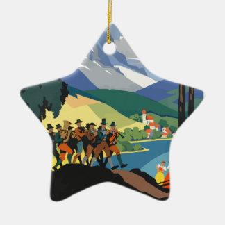 Vintage Travel Austria Ceramic Ornament